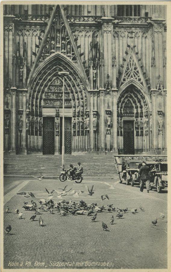 pocztówka z katedra w Kolonii