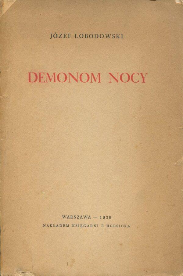 Okładka książki DEMONOM NOCY
