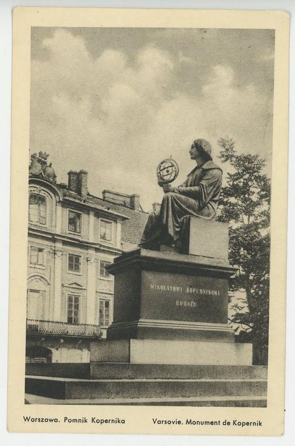 pomnik kopernika foto wojutyński