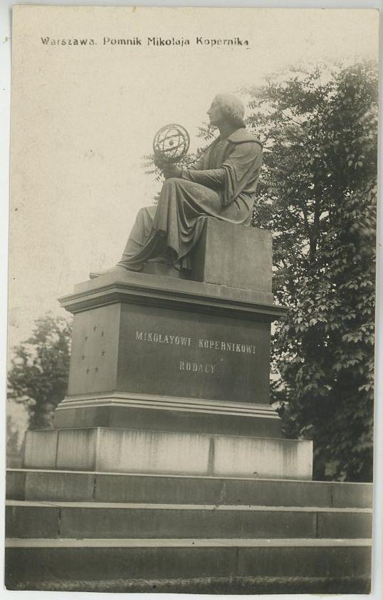 pocztówka pomnik kopernika