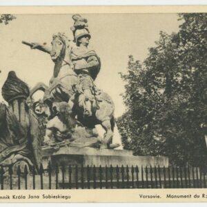 pocztowka pomnik jana iii sobieskiego
