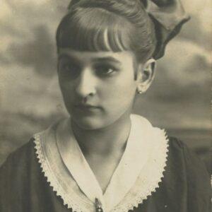 fotografia dziewczyna z kokarda