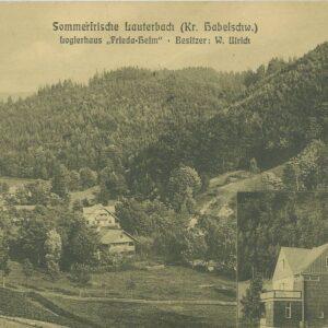 pocztówka z Lauterbach (dziś Goworów w Kotlinie Kłodzkiej)
