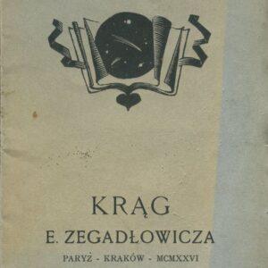 okładka książki KRĄG Zegadłowicza